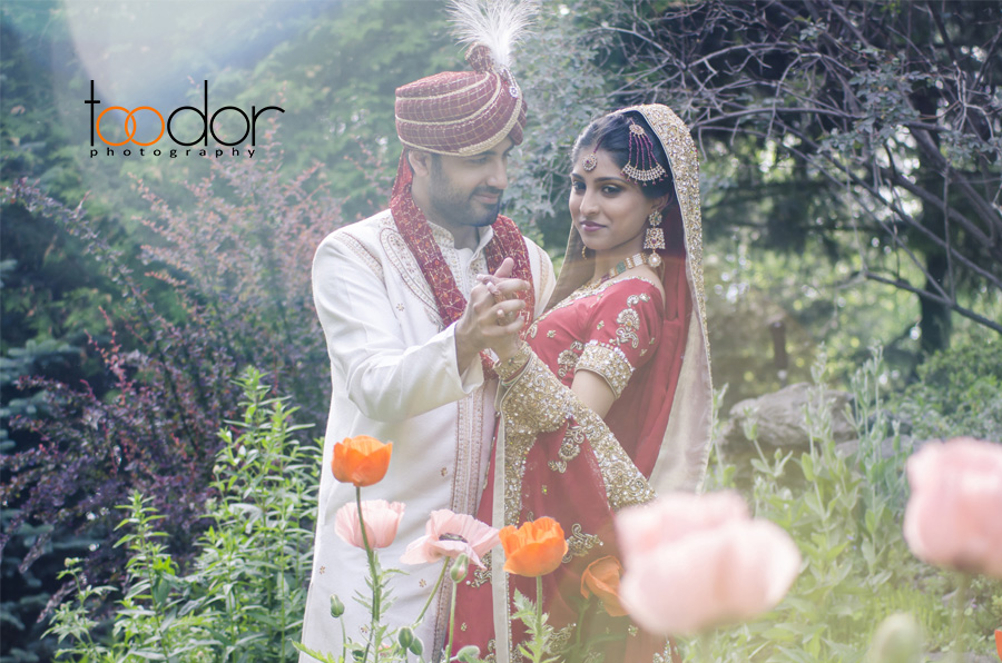 Beautiful young couple Pakistani wedding. Photos in Parc de la Nature, Laval, Quebec